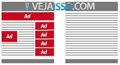 Exemplo de como funciona o Adblock Plus - Ao impedir o carregamento do anuncio, o site carrega mais rápido e fica mais limpo, além de proteger sua privacidade