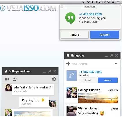 Extensão Hangouts para o Google Chrome e prática, rápida e acelera a comunicação, sendo uma dica do google+ valiosa