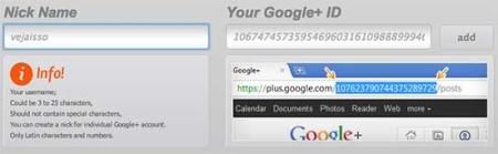 Gplus.to permite criar um endereço fácil e curto para compartilhar com os amigos, usar na assinatura e que e facil de decorar enquanto não chegam os vanity url oficiais