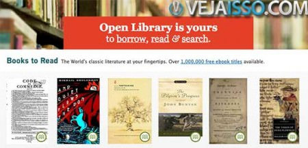 OpenLibrary conta com 1 milhao de ebooks gratis para ler, alem da promessa de ser a futura Wikipedia dos livros