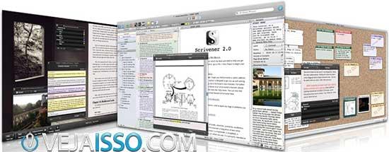 Scrivener é o melhor programa para escrever livros para Mac
