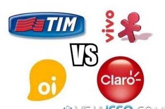 Comparar plano de celular e tablet das operadoras de telefonia TIM, Vivo, Oi e Claro