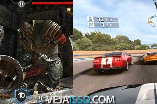 Desenvolvedoras estao criando cada vez mais jogos de gamers avançados como Infinity Blade II e Real Racing 3