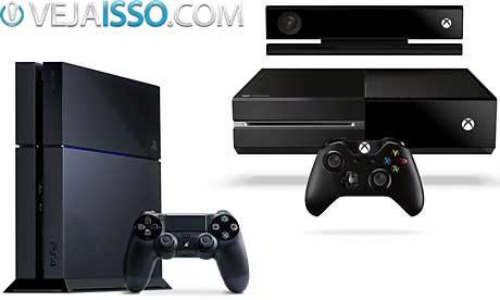 PS4 vs Xbox One tem hardware semelhante, com pequena vantagem para o PS4, desconsiderando o Kinect 2