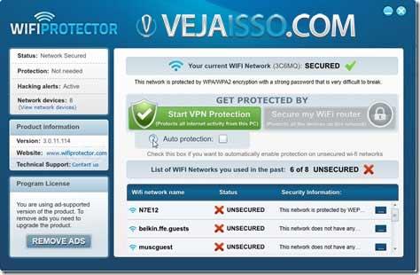 WIFI Protector - Criptografar e proteger seus dados em qualquer conexão wireless