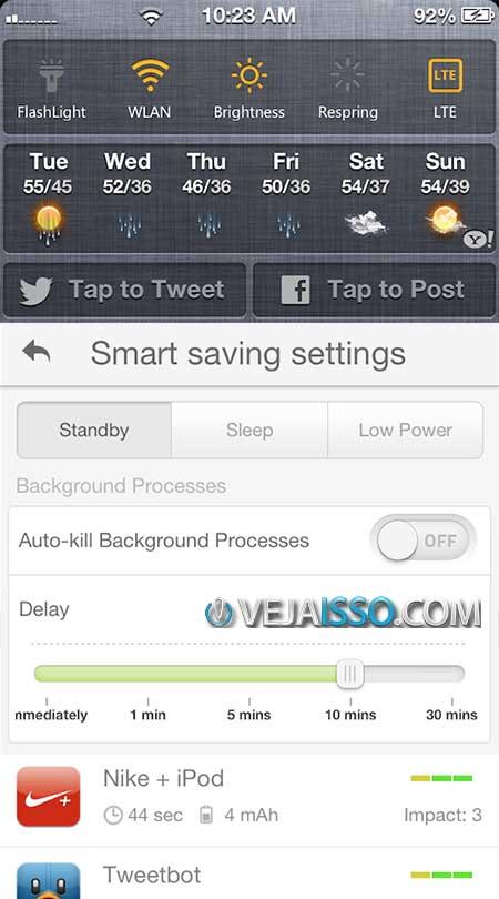 Battery Doctor Pro não apenas gerencia o Wifi e Bluetoth, como adiciona essas funções nas notifições e ainda fecha os apps não usados, exceto os que você permitir