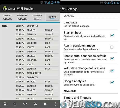 Smart Wifi Toggler e o melhor programa para gerenciar as conexoes wifi e economizar bateria e dados de internet movel