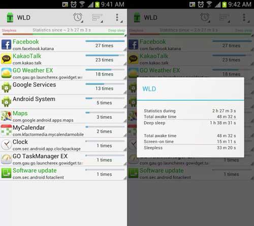 WakeLock colhe estatísticas de uso de memória e processador dos apps que estavam rodando em multitasking, para identificar os culpados pelo uso excessivo do celular