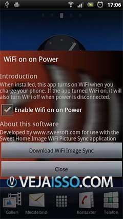 Wifi On AC Power desliga a internet celular do seu aparelho assim que for conectado a tomada, permitindo economizar internet evitando gastos desnecessarios e carregando mais rapido