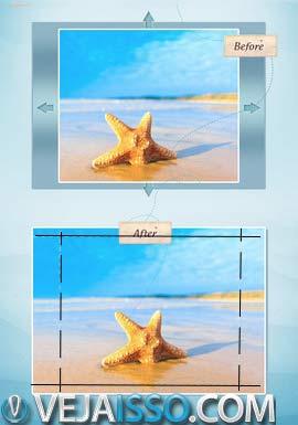 AntiCrop faz mágica ao expandir os cantos e as laterais das fotos, permitindo criar imagem como se o fundo continuasse