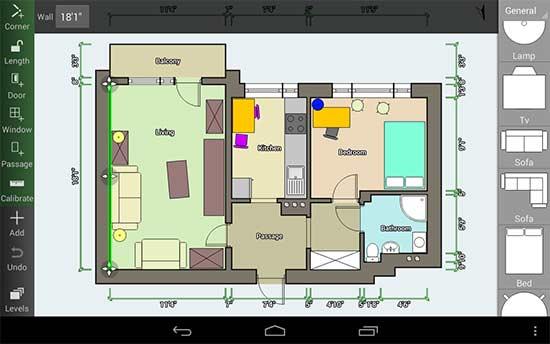 Floor Plan Creator e atualmente o melhor app no Android para fazer planta da casa