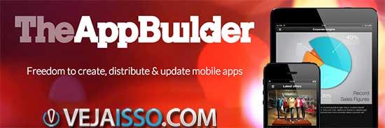 TheAppBuilder - O lider em criar apps compativeis com iPhone e Android com uma interface facil de mexer e de atualizar