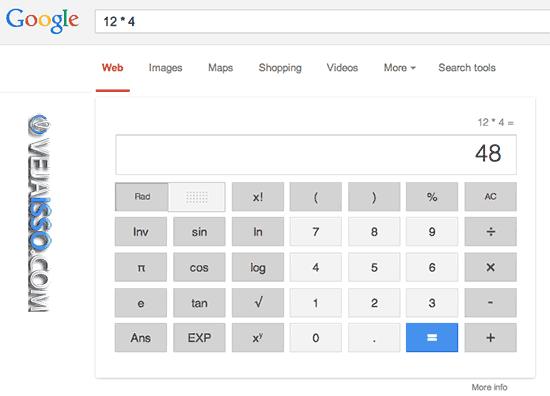 Calculadora do Google e uma das adicoes favoritas, pois ganha muito tempo e facilita muito ate mesmo para fazer contas complexas