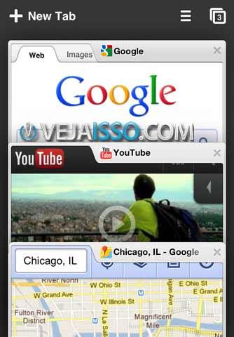 Chrome para iOS tenta trazer a interface Chrome e um pouco mais de liberdade, sincronizando com o PC e seu login, sendo extensamente otimizado para o Google, além do Google Chrome Turbo
