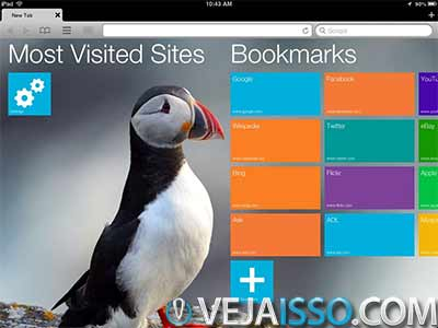 Puffin consegue ser o mais rápido browser para iPhone e iPad ao utilizar o poder da nuvem para renderizar o javascripts, além de permitir Flash e trackpad