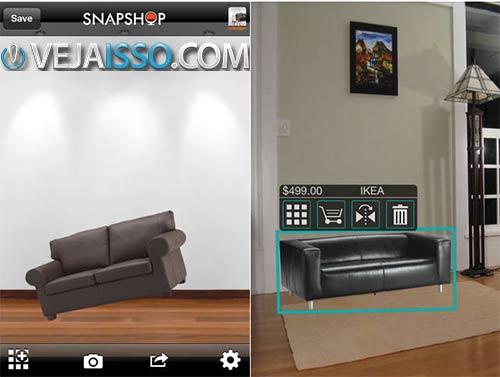 SnapShop tem o maior catalogo dentre os apps para decorar casa, além de ser extremamente fácil de usar