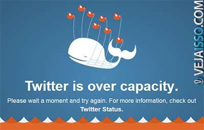 Twitter há alguns meses atrás ainda saía do ar devido ao grande número de usuarios, popularizando o termo baleiar para sites que saem fora do ar