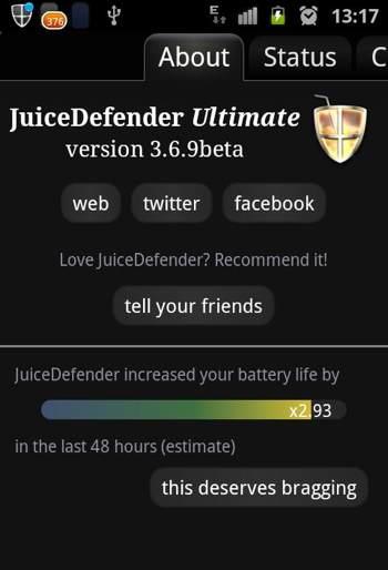 Juice Defender tira o maximo da bateria do seu celular e tablet ao deixar apenas os apps necessario rodando, 3g, wifi e bluetooth, sem te atrapalhar em nada