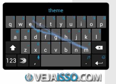 SwiftKey o melhor teclado para celular e tablet, permitindo digitar longos textos com rapidez e sem errar