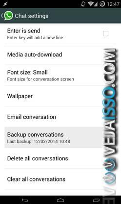 Fazer backup de recuperar suas mensagens